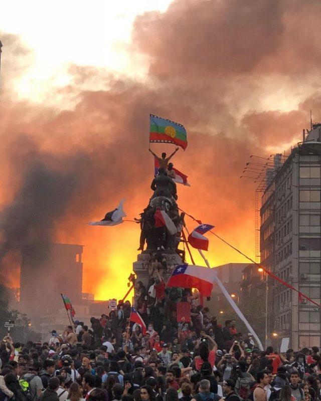 La Marcha más grande de la historia. Santiago 25 de octubre. Foto: Susana Hidalgo Alfaro.